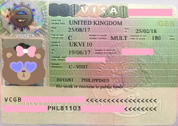 UK Tourist Visa for Philippine Passport Holders – NISHLOVEPINK